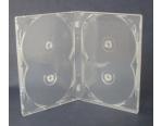Бокс для 4 DVD дисков 14mm полупрозрачный трей, глянцевая пленка
