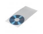 Конверт для дисков CD и DVD PP 60mic (прозрачный,полипропилен)
